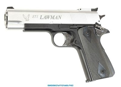 Cumpara replica airsoft STI Lawman,Hop-up,Silver (ASG)